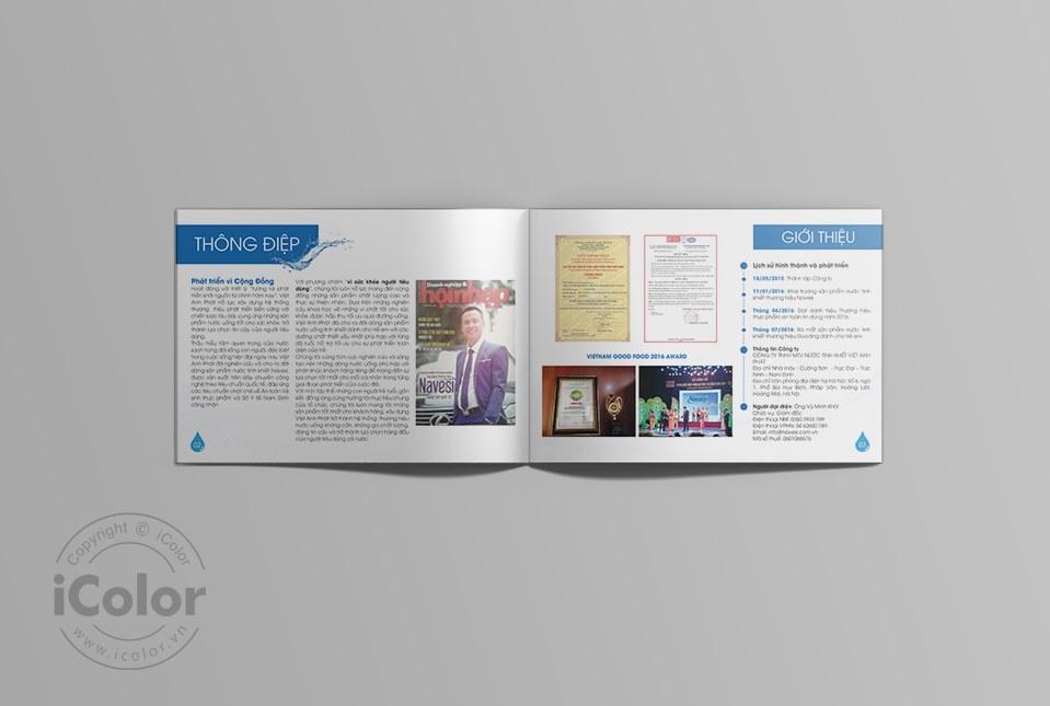Thiết kế catalog sản phẩm nước uống Navesi