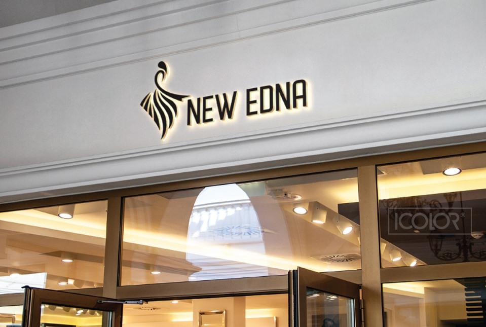 Thiết kế logo thương hiệu thời trang nữ NEW EDNA (by ICOLOR)