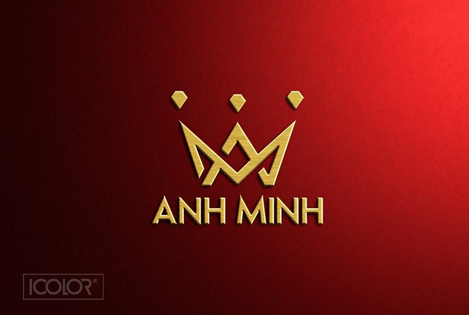 Thiết kế logo Tiệm vàng Anh Minh by ICOLOR