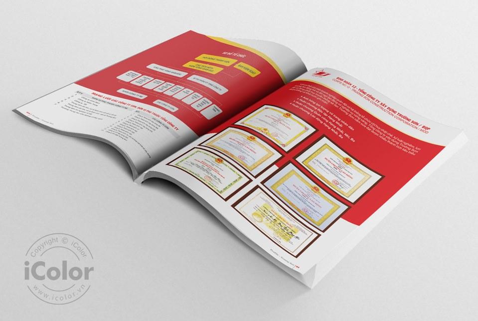 Thiết kế profile Tổng Cty XD Trường Sơn - Bộ Quốc Phòng
