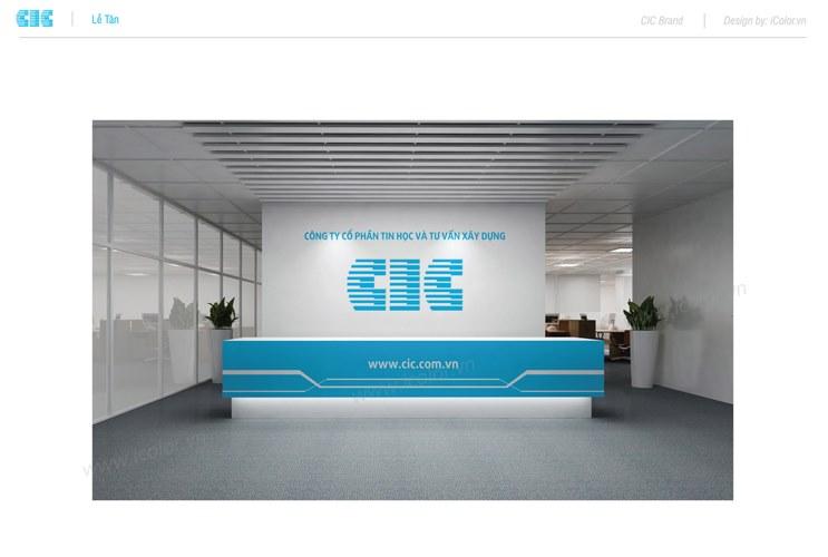 Bộ nhận diện cty CP Tin học và Tư vấn Xây dựng