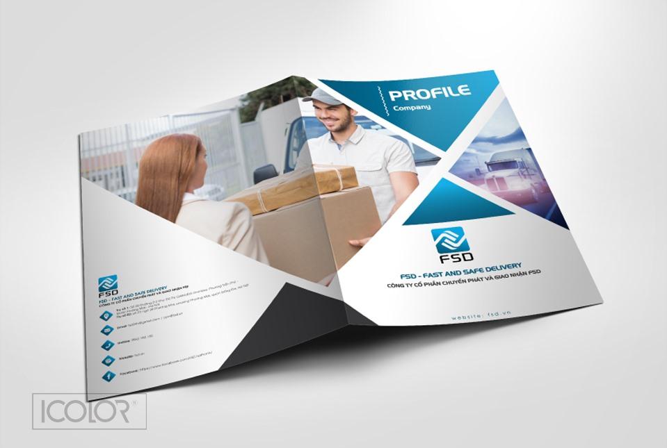 Thiết kế profile | hồ sơ năng lực CT Chuyển phát và Giao nhận FSD