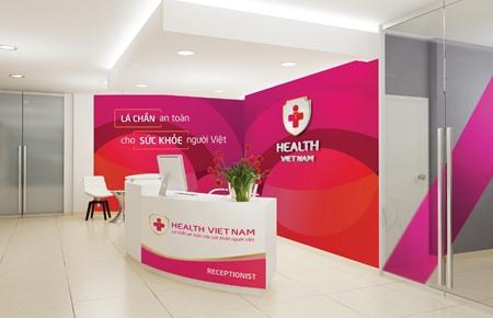 Bộ nhận diện thương hiệu phòng khám Health Việt Nam. Health Việt Nam quán triệt sâu sắc và lấy quan điểm của Đảng về công tác bảo vệ, chăm sóc và nâng cao sức khỏe Nhân dân làm cương lĩnh xuyên suốt cho mọi hoạt động của Hệ thống, cụ thể là: