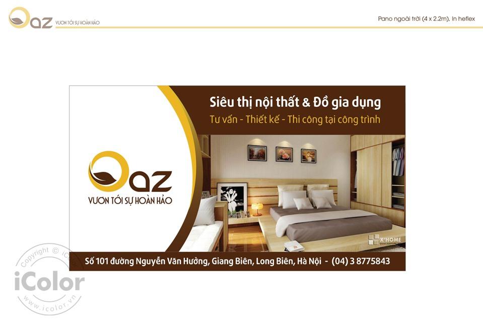 Thiết kế bộ nhận diện Công ty Nội thất OAZ