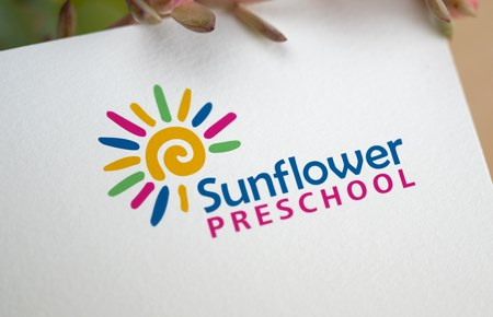 2021 Thiết kế logo Trường mầm non Sunflower