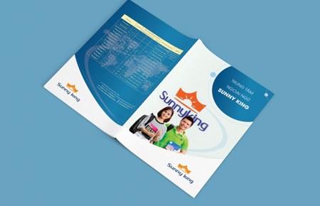 Thiết kế brochure Cty Giáo dục SUNNY KING VN