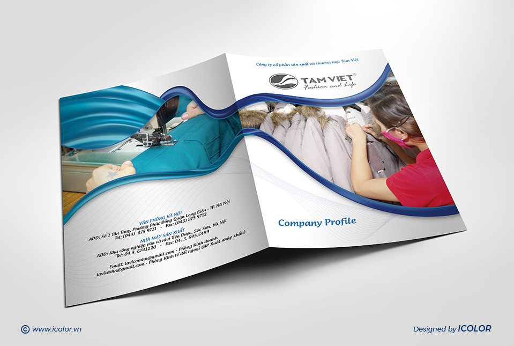 Thiết kế profile   hồ sơ năng lực Công ty CP SX & TM Tâm Việt