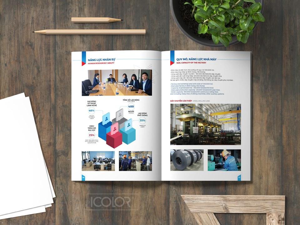 Mẫu thiết kế hồ sơ năng lực Công ty CP ống thép Thuận Pháp by iColor