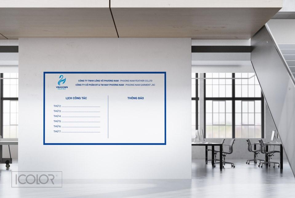 Thiết kế bảng Công ty TNHH Lông Vũ Phương Nam