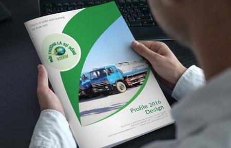 Thiết kế profile | hồ sơ năng lực CT CP Môi trường Việt Xuân Mới