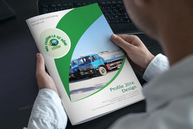 Thiết kế profile   hồ sơ năng lực CT CP Môi trường Việt Xuân Mới