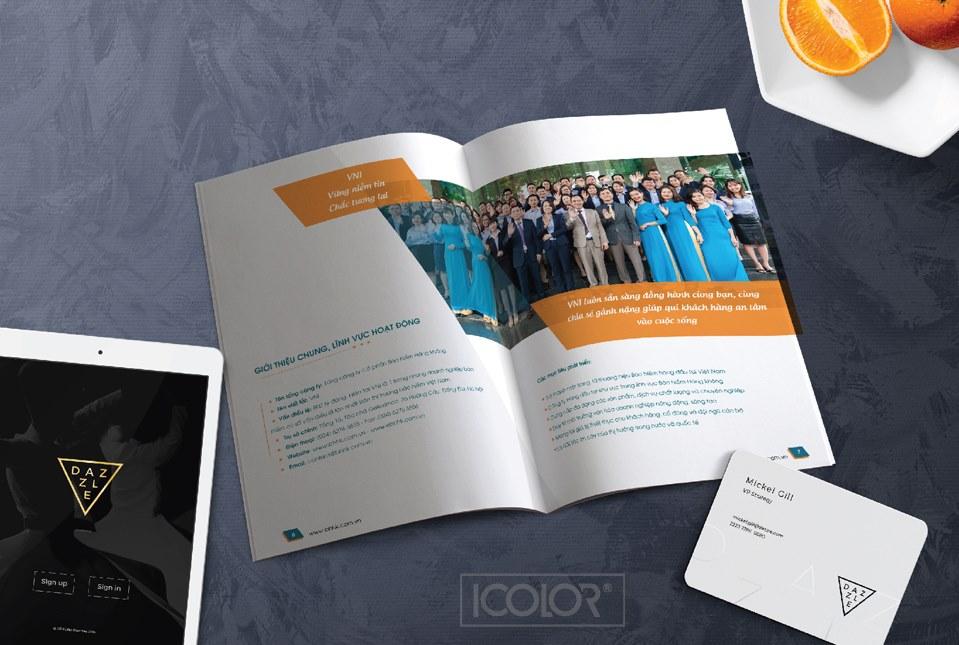 Thiết kế profile công ty Bảo hiểm hàng không VNI