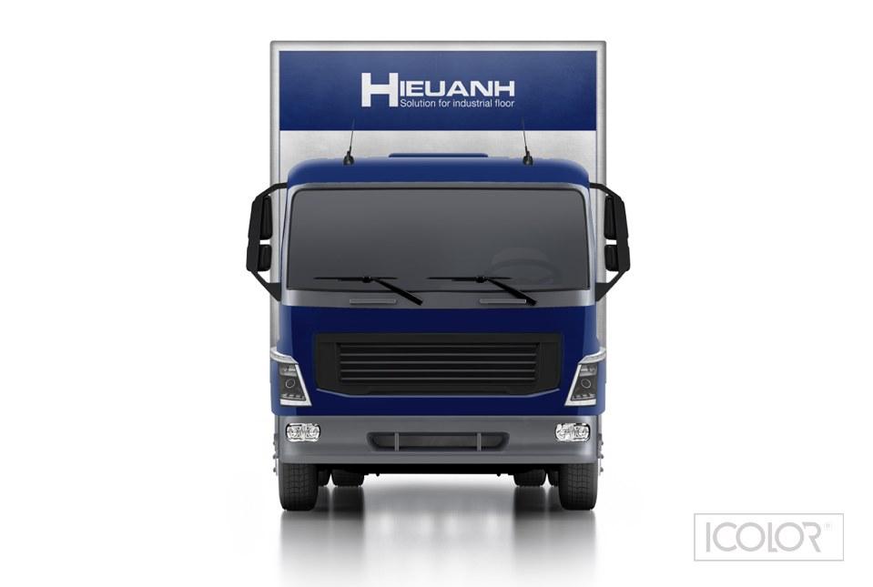 Thiết kế nhận diện xe Công ty Hiếu Anh
