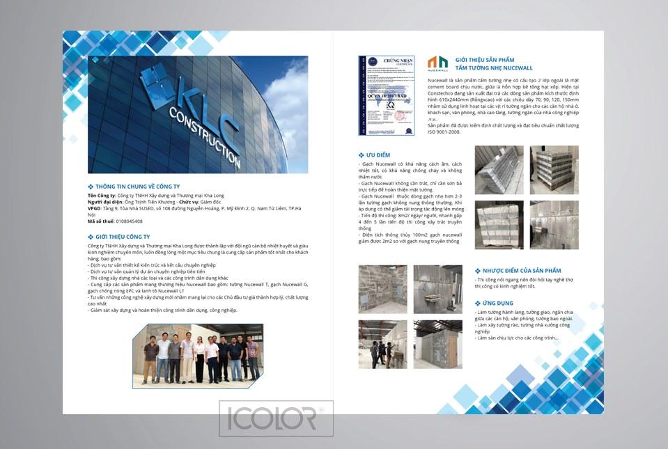 Thiết kế profile   Hồ sơ năng lực công ty KLC