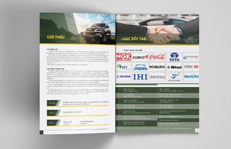 Thiết kế profile | hồ sơ năng lực CT Du lịch và TM Hà Nội