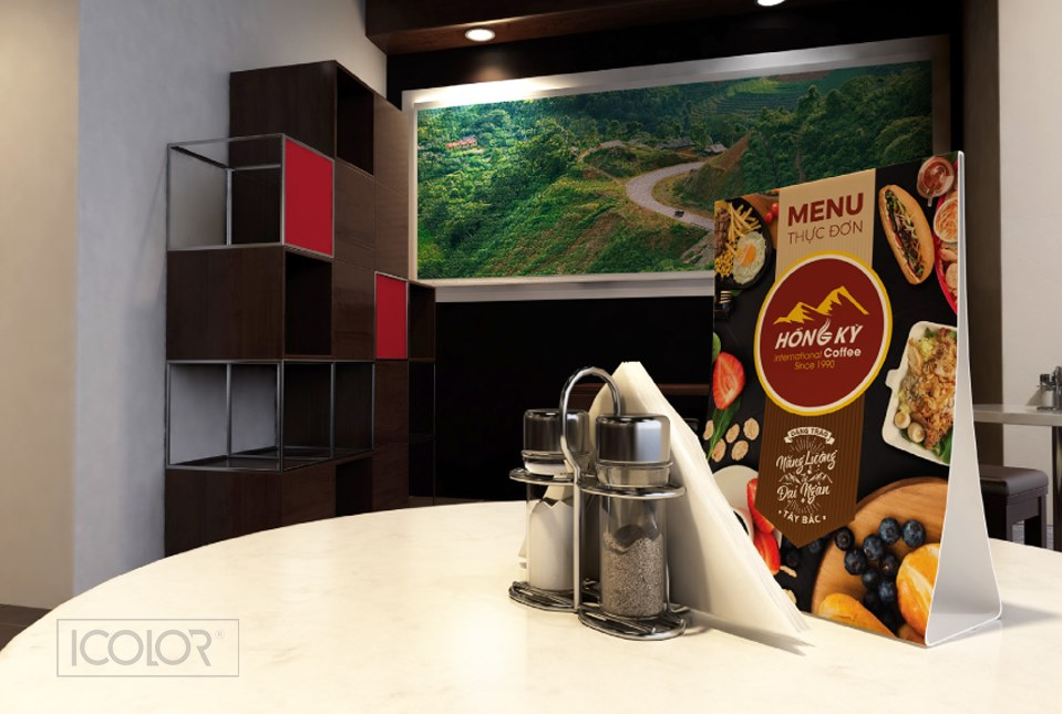 Bộ nhận diện thương hiệu chuỗi cửa hàng Hồng Kỳ Coffee