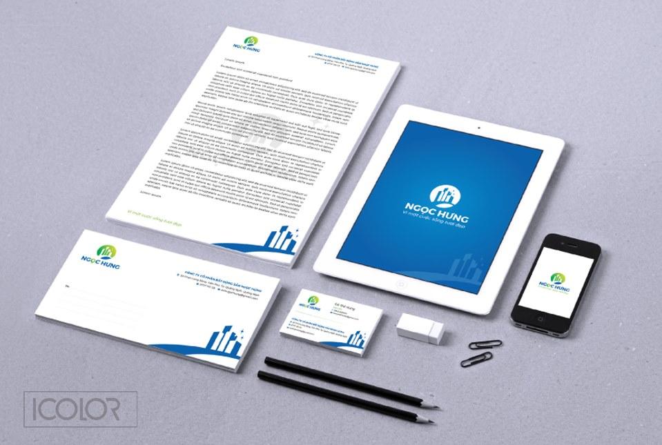Thiết kế bộ nhận diện CTCP Bất động sản Ngọc Hưng