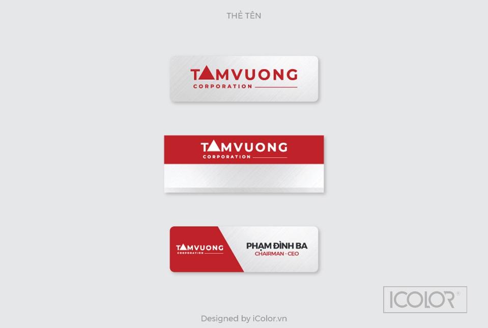 Bộ nhận diện thương hiệu CTCP TMDV và Du lịch Tam Vương