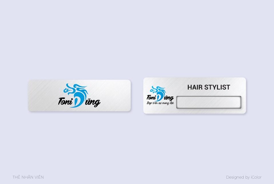 Thiết kế nhận diện Salon tóc Toni Dũng