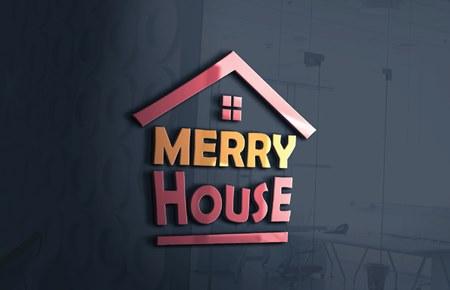 Thiết kế logo công ty Ngôi nhà vui vẻ