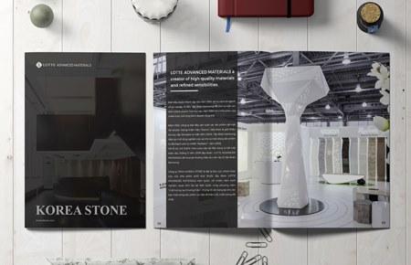 Thiết kế catalogue Công ty Korea Stone