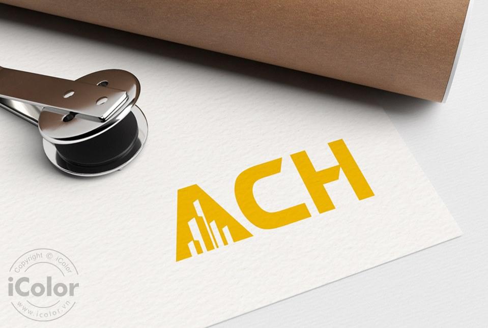 Thiết kế logo CTCP Tư vấn Xây dựng ACH