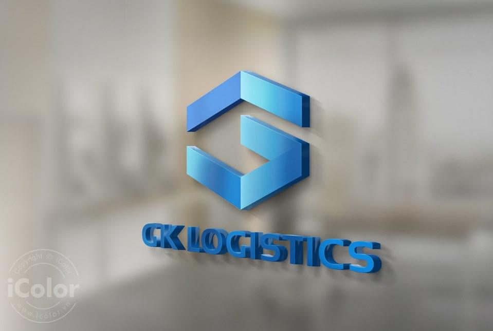 Thiết kế logo Công ty GK LOGISTICS