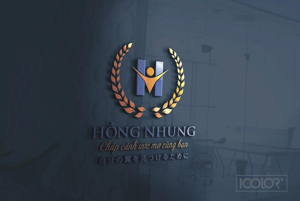 2021 Thiết kế logo Trường mầm non Hồng Nhung
