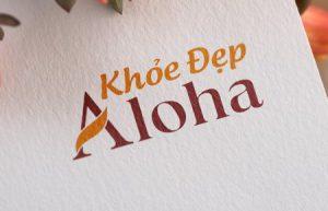 Thiết kế logo công ty Khỏe đẹp Aloha