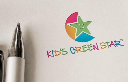 Thiết kế logo Shop thời trang Kids Green Star