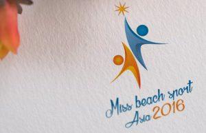 Thiết kế logo Cuộc thi hoa khôi thể thao bãi biển Châu Á