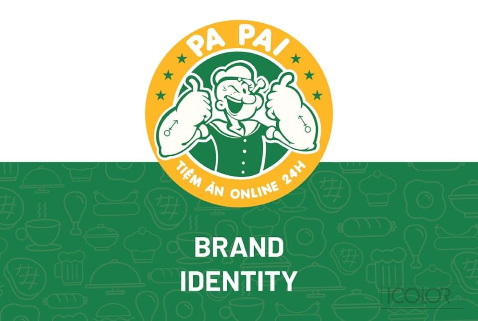 Thiết kế bộ nhận diện Tiệm ăn Online PaPai