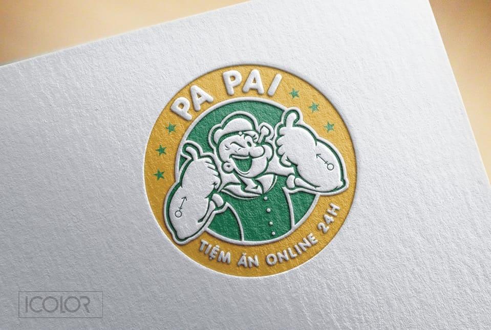 Thiết kế logo Tiệm ăn Online PaPai