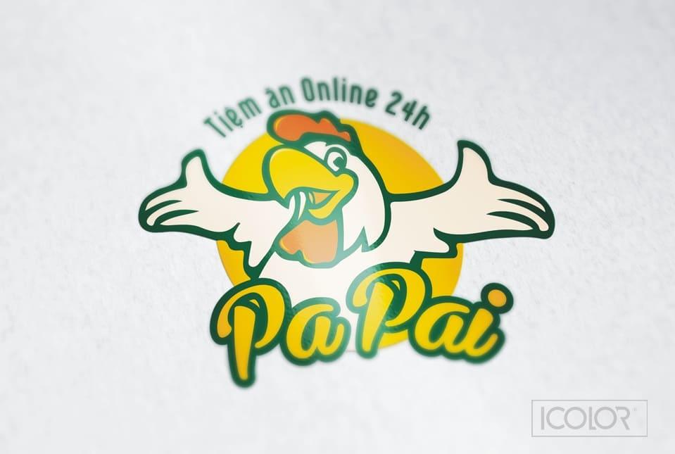 Thiết kế logo Cơm gà Online PaPai