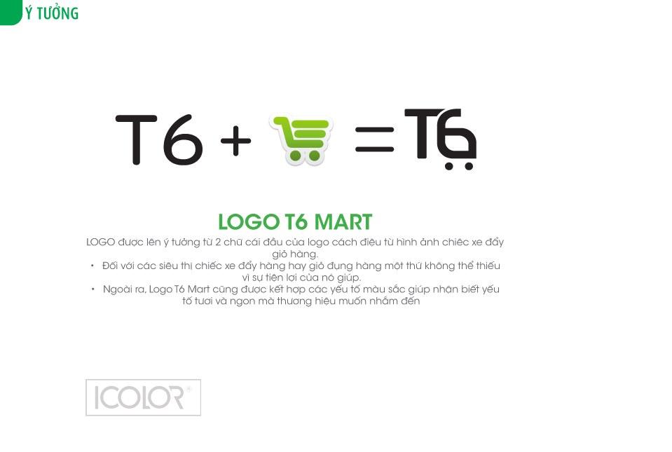 Thiết kế logo siêu thị T6 Mart