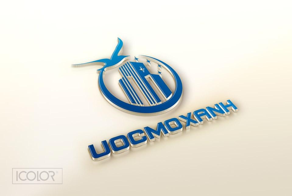 Thiết kế logo Công ty BĐS ƯỚC MƠ XANH