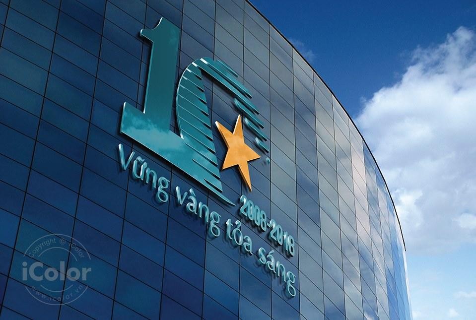 Thiết kế logo kỷ niệm 10 năm BHHK VNI