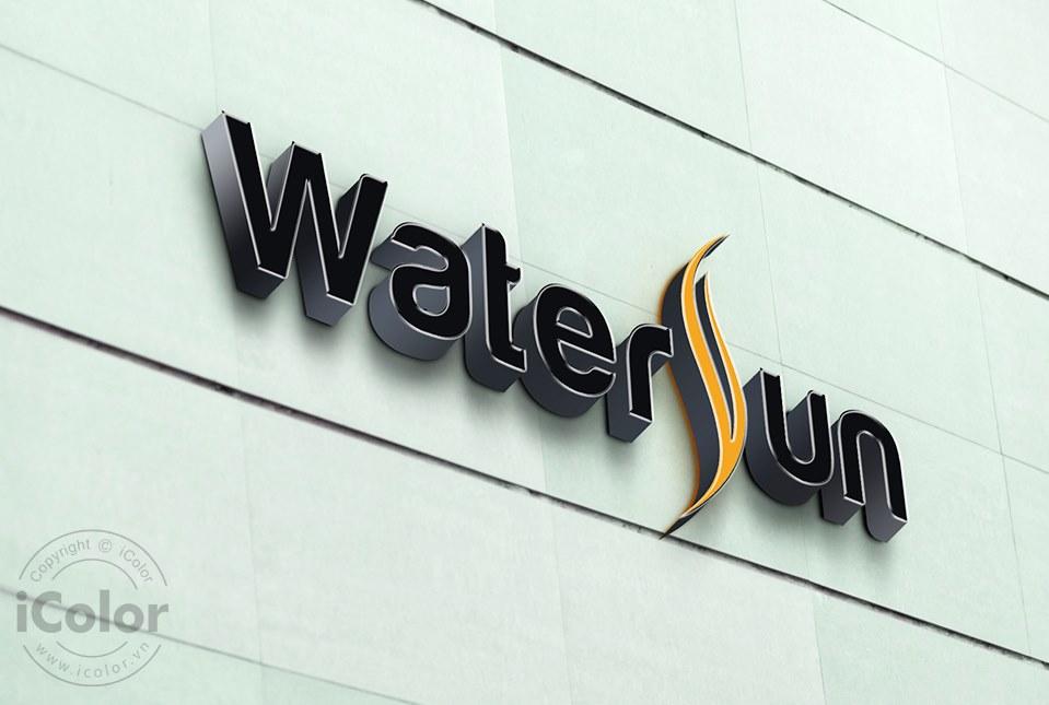 Thiết kế logo bàn trà Watersun