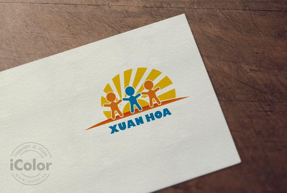 Thiết kế logo Trường mầm non Xuân Hòa 2021