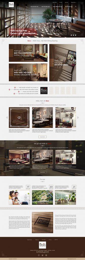 Thiết kế website bois.com.vn