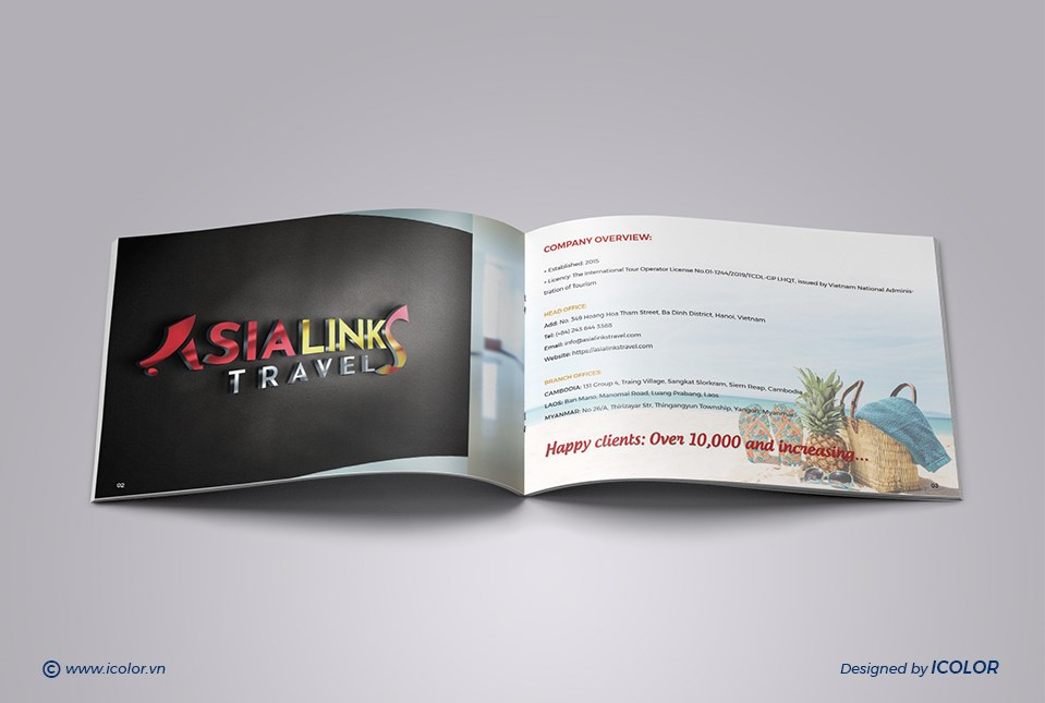 Thiết kế profile ASIA LINKS TRAVEL