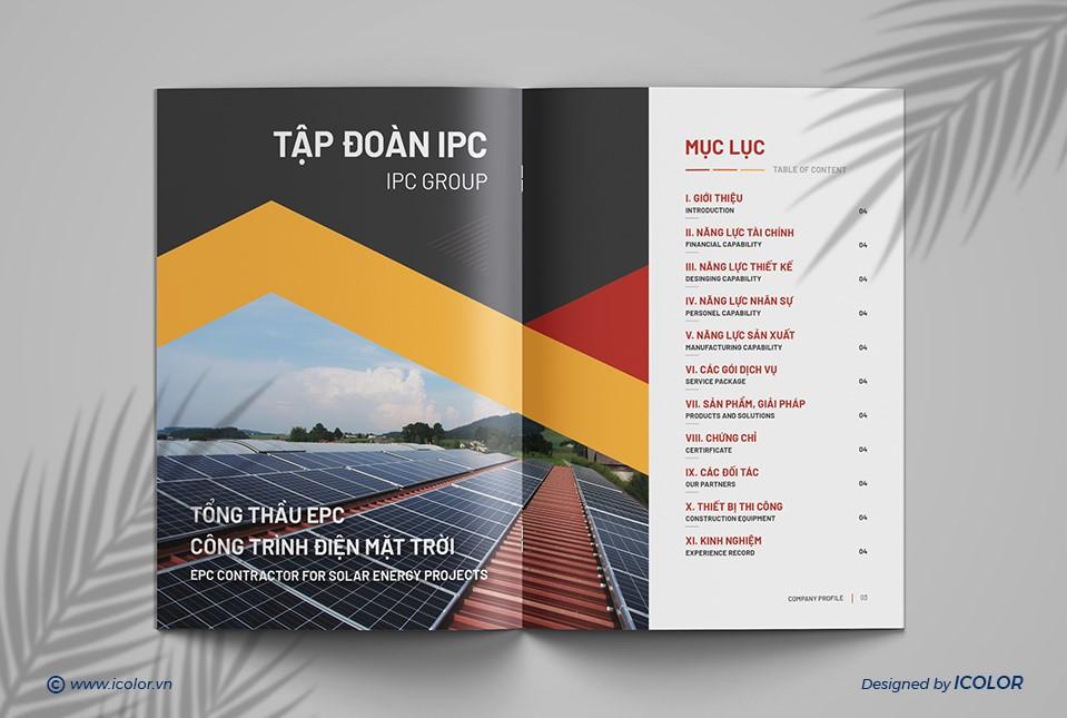 Thiết kế Hồ sơ năng lực Tập đoàn IPC