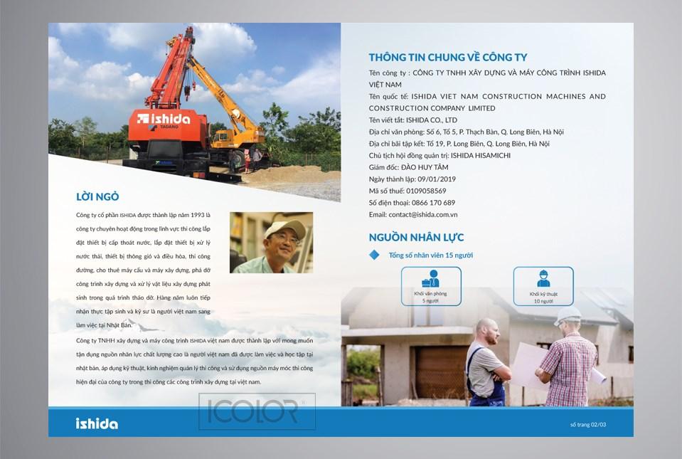 Thiết kế profile CT Xây dựng và Máy công trình ishida VN