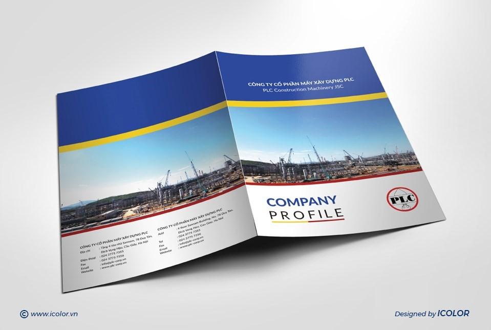 Thiết kế profile CTCP Máy Xây Dựng PLC