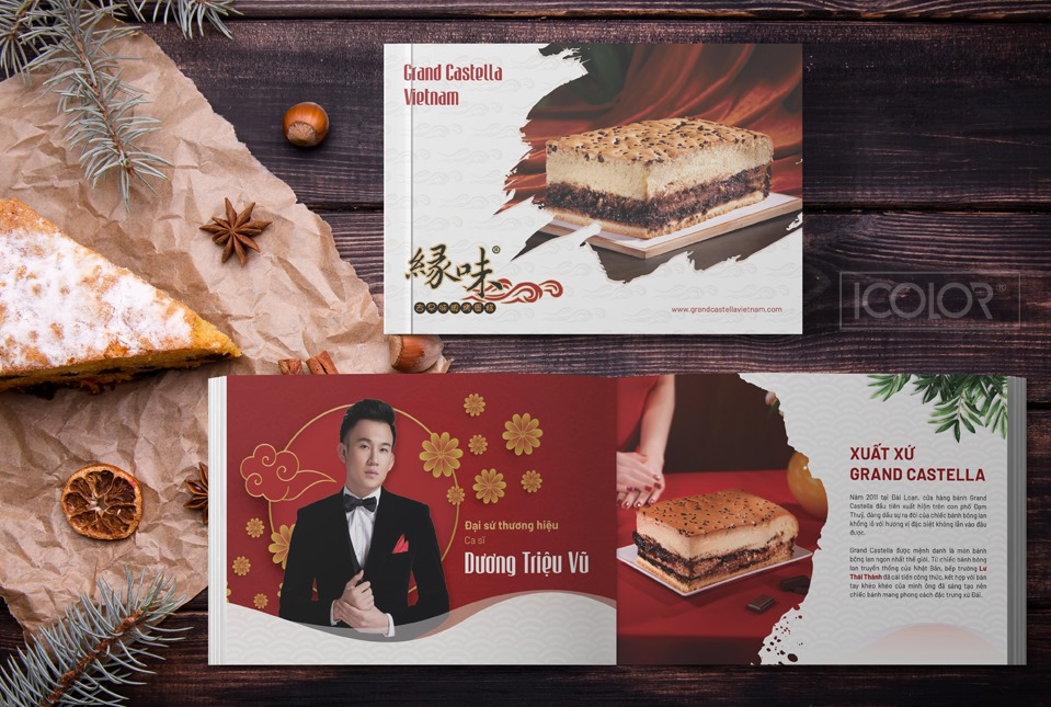 Thiết kế Catalogue Thương hiệu Grand Castella Royal Tea