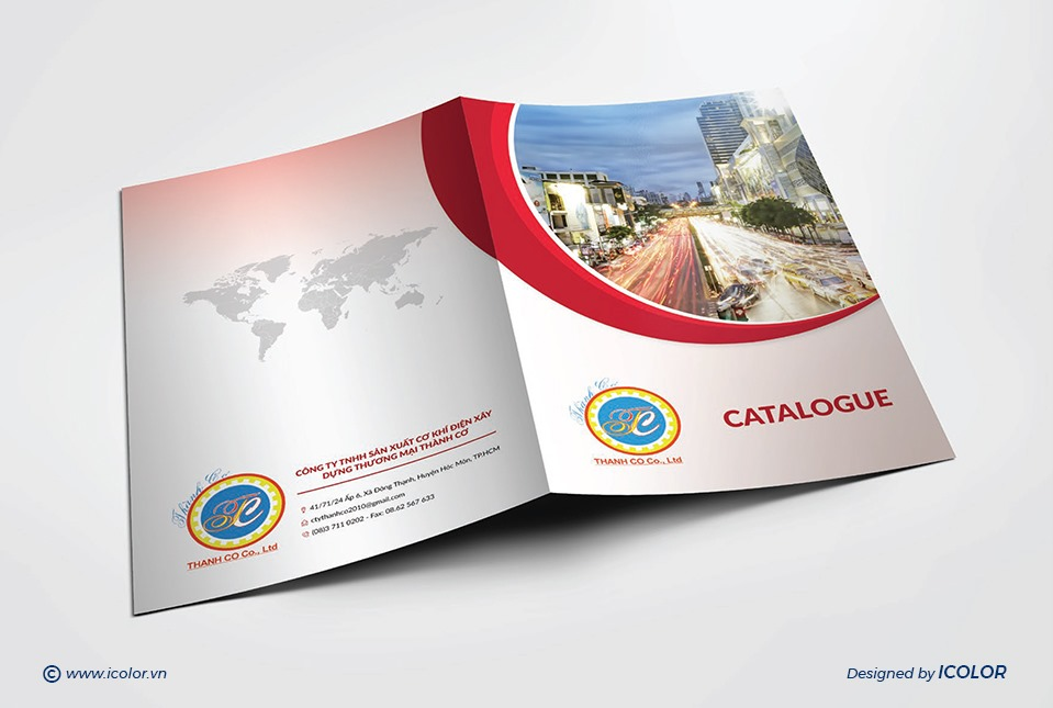 Thiết kế Catalogue CT SX Cơ khí Điện XDTM Thành Cơ
