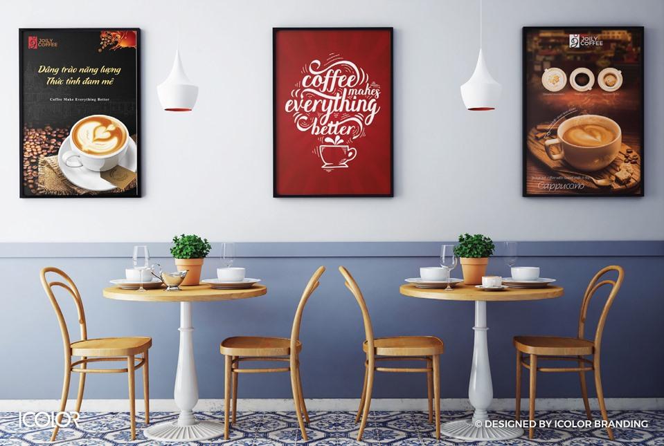 Thiết kế bộ nhận diện thương hiệu chuỗi cửa hàng Joily Coffee