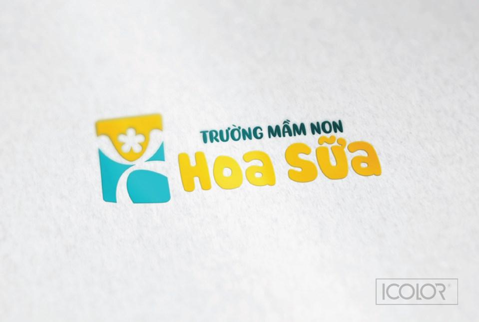 Thiết kế logo Trường mầm non Hoa Sữa