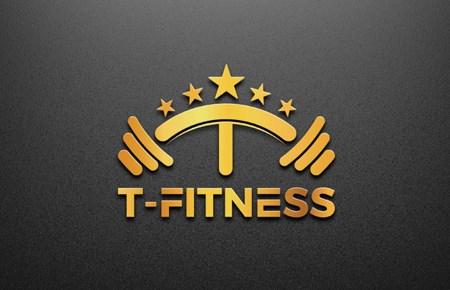 Thiết kế logo Phòng tập Gym 5 sao T-Fitness 2021