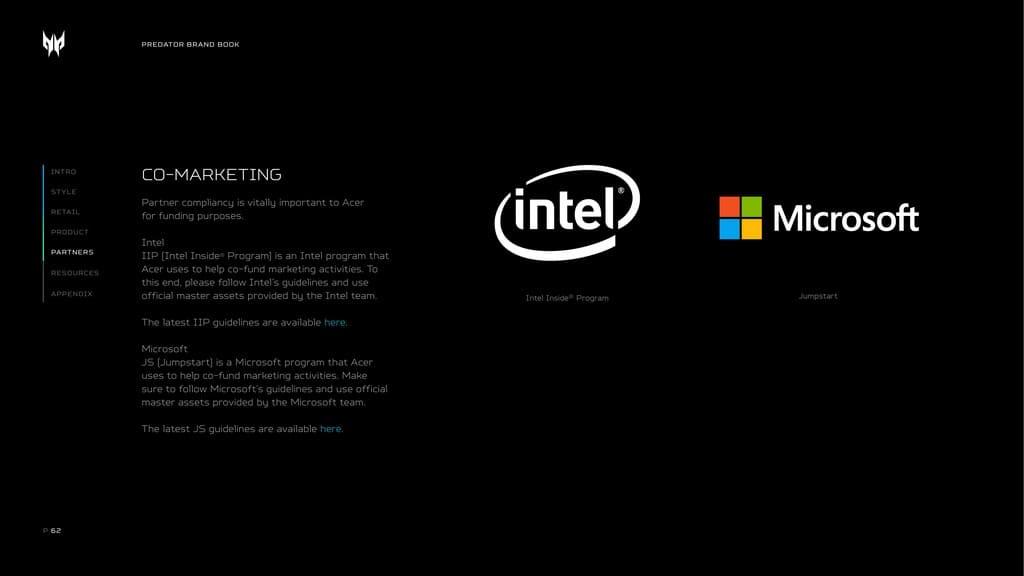 Bộ nhận diện thương hiệu laptop Predator Acer